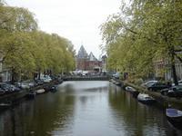 Blick zur alten Waage in Amsterdam