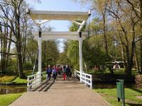 Typische Zugbrücke auf dem Weg zum Ausgang