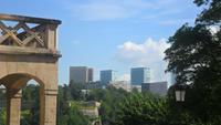 Blick zur Europastadt Luxemburg