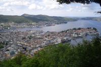Bergen (Ausblick vom Hausberg Fløyen)