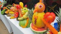 Seetag - Figuren kunstvoll aus Obst und GemÃŒse geschnitzt