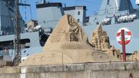 Kopenhagen - Kanalrundfahrt - Sandskulpturen