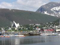 Blick zur Eismeerkathedrale