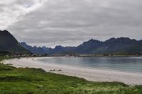 Weiße Sandstrände auf Flakstadøya