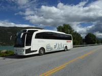Bus am Fjord