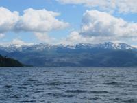 Blick von Öystese über den Hardangerfjord
