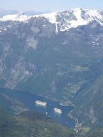 Geiranger Fjord, Blick von Dalsnibba