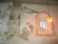 Fresken in der Kirche von Kinsarvik