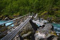 363 Utladalen, Ovre Ardal, Hängebrücke, kurz vorm Vettisfossen