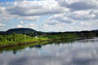 Der Grenzfluss zwischen Norwegen und Finnland