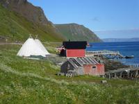 069 Norwegen - Samensiedlung am Porsangerfjord