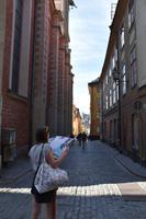 019 Stockholm, Altstadtgasse an der Deutschen Kirche