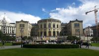Stadtrundfahrt in Oslo (Parlament bzw. Storting)