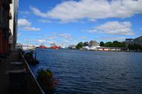 320 Bergen, Hafen mit Festung Bergenhus