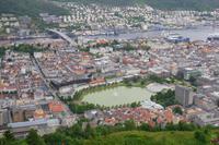 Blick vom Fløyen auf Bergen