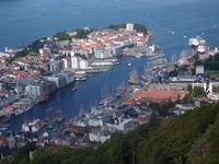Blick vom Flöyen auf Bergen