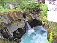 085 Wasserfall Gudbrandsbro - Blick hinein