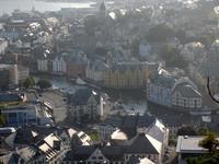 Blick auf das Zentrum von Alesund