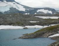 Eis auf dem Sognefjell