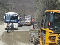 Straßenbau in Nepal