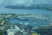 Blick vom Sky-Tower auf Auckland