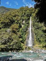 Auf dem Weg nach Wanaka - Thunder Creek Falls