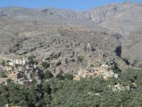 Dubai - Oman - Ausflug rund um Nizwa -Blick Misfat al Abreen