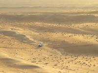 Dubai - Oman - Fahrt nach Wahiba Sands - in der Sandwüste - Sonnenuntergang auf den Dünen
