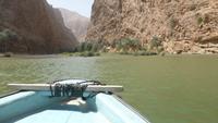 Bootsfahrt im Wadi Shab