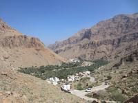 Blick auf das Wadi Tiwi
