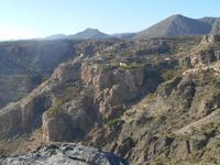Jebel Akhdar-Gebirge (Diana´s Point - Blick auf das Dorf Al-Ayn)
