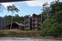 Ein im Bau befindliches Regenwaldhotel