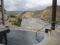 Heißes Thermalbad mit Ausblick im Hotel Colca Lodge