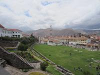 Blick vom Sonnentempel auf Cusco