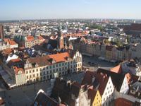 Breslau, Blick von der Elisabethkirche