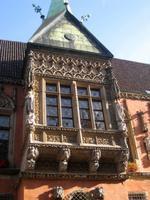 Breslau, neogotisches Fenster am Rathaus