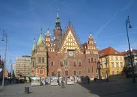 Breslau, Ostseite Rathaus