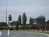 Breslau, Kolonaden und Pavillions an der Jahrhunderthalle