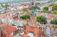 Danzig vom Turm der Marienkirche