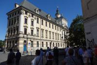 Wir kommen zum alten Uni- Gebäude, in der sich die Aula Leopoldina befindet