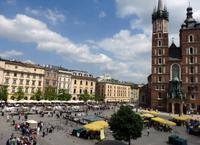 Buntes Treiben auf dem Rynek in Krakau
