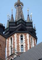 Der Trompeter bläst vom Turm der Marienkirche