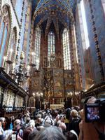 Der Veit Stoß Altar wird im Moment geöffnet