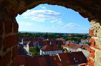 054 Blick vom Burgfried auf Roessel (Reszel) mit Rathaus