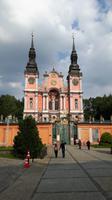 Blick zur Wallfahrtskirche Maria Verkündung,