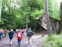 Eberhardt-Radreisegruppe in der Wolfsschanze