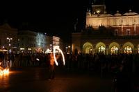 Krakau bei Nacht - Markt