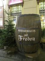 unser Restaurant für das Abendessen direkt auf dem Rynek