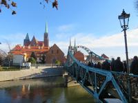 eine der vielen Oderbrücken (Tumski Brücke)