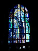 Glasfenster: Gott bei der Erschaffung der Erde